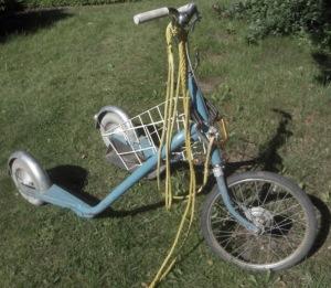 Sparkcykel med drag
